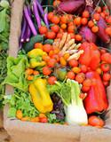 fruits and vegetables for sale at supermarket - 223208374