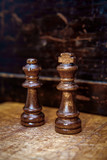 Chess Pieces King Queen