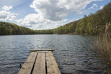 Holzsteg auf den See - 223215516