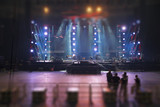 Preparing the stage for a concert - 223227156