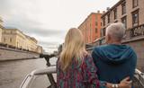 Romantic couple on yacht at sunset - 223228946