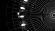 3d asbtract technology background. Circular structure with bright elements and lines. Centered composition...