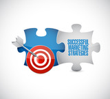 Successful marketing strategies target puzzle pieces - 223231507