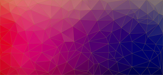 Flat triangle bright red and blue gradient background