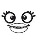 kopf frau weiblich mädchen girl crazy verrückt lippen nerd geek monster gesicht lustig comic cartoon clipart kopf design cool frech - 223245901