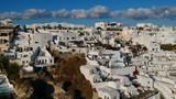 Santorini Oia Greece villas Drone - 223267100