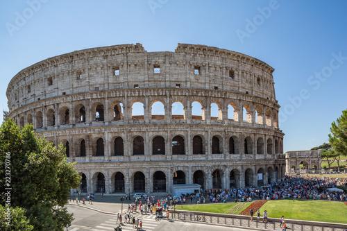Piękny Colosseum, także znać jako Flavian amphitheatre w Rzym, Włochy