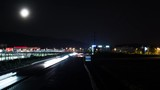 Hyperlapse of a highway by night. - 223287339