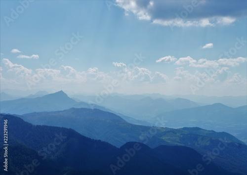 Foto Murales Himmel Wolken Berge