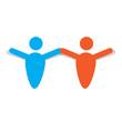 Abstract teamwork logo. Business concept