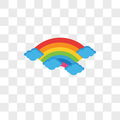 Rainbow vector icon isolated on transparent background, Rainbow logo design