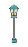 lamppost light decoration exterior ornament - 223314731