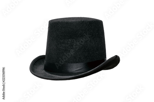 a8261f93f16 Black bowler hat isolated on white background.