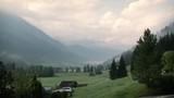 Austria view of mountains, moody - 223319566