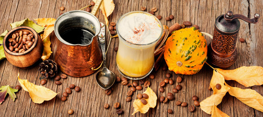 Pumpkin spice latte © nikolaydonetsk