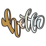 Hello.  Handwritten Lettering. Text. Modern Calligraphy.