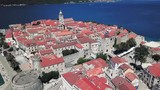 Perfect view of town of Korcula in Croatia. - 223325961