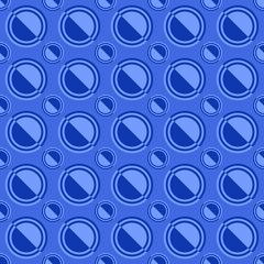 Blue simple seamless pattern - vector circle background illustration © David Zydd