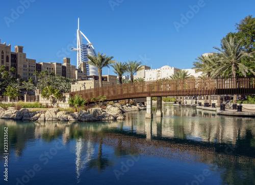 Medinat Jumeirah and Burj Al Arab Luxury Hotel, Dubai, United Arab Emirates