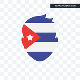 Cuba vector icon isolated on transparent background, Cuba logo design