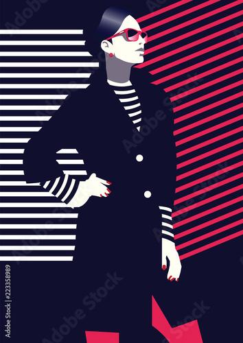 moda-i-stylowa-kobieta-w-stylu-pop-art