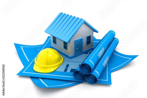 Model domu na planie