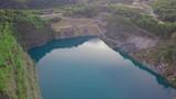 See im Steinbruch mit türkis klarem Wasser - 223368704