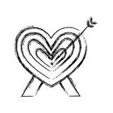 romantic heart love arrow decoration - 223371797