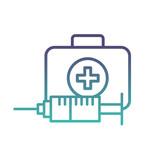 medical emergency kit first aid syringe - 223375973