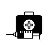 medical emergency kit first aid syringe - 223378330