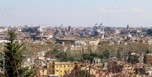 rome, italy, panorama, city, view, architecture, cityscape, urban, building, skyline, travel, town, europe, panoramic, landscape, house, buildings,  - 223379780