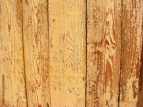 beżowy shabby drewniane ściany z bliska