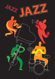 Jazz festival / Creative conceptual music festival vector. Musical instruments.