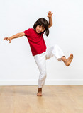 joyful child playing monster for kids fighting body language - 223391704