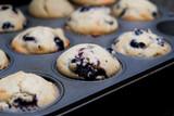 fresh homemade blueberry muffins - 223406901