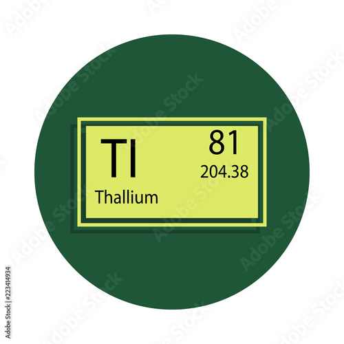 Periodic Table Element Thallium Icon In Badge Style One Of Chemical