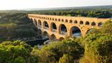 Pont du Gard in the Gardon River, south of France - 223420335