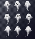 Ghost Realistic Set Transparent  - 223424963