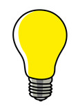 Simple graphic of a light bulb - 223428105