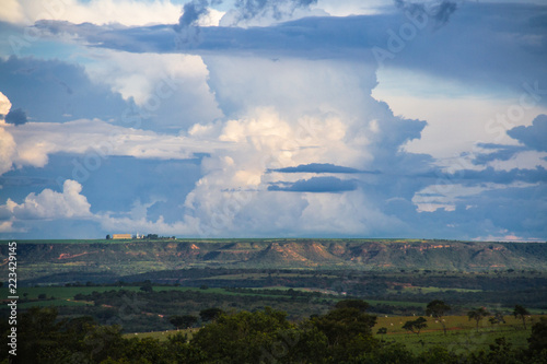 landscape with clouds, paisagem com núvens - 223429145
