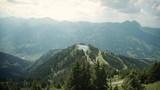 Beautiful mountain top view of small lake - 223441143