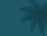 Beautifil Palm Tree Leaf  Silhouette Background Vector Illustration - 223441789