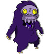 purple monster cartoon - 223450781