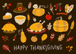Set of elements for Thanksgiving day design - 223481135