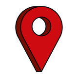 pin pointer location icon - 223482507