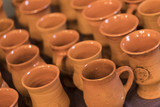 A lot of clay beer mugs - 223484555