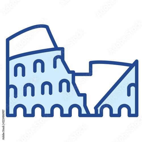 Ilustracja wektorowa ikona Koloseum