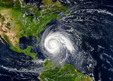 tropical hurricane approaching the USA.Elements of this image are furnished by NASA. - 223495944
