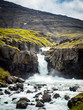 Waterfall in the sun in Iceland - 223497584