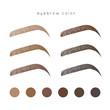 How to make up eyebrow. Brow color - 223501190